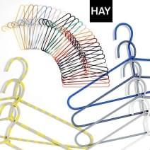 HAY wire bøjler (sæt af 3 eller 5 bøjler), CORD HANGER ved HAY stål og cord smukke farver. Bright, frisk og Design