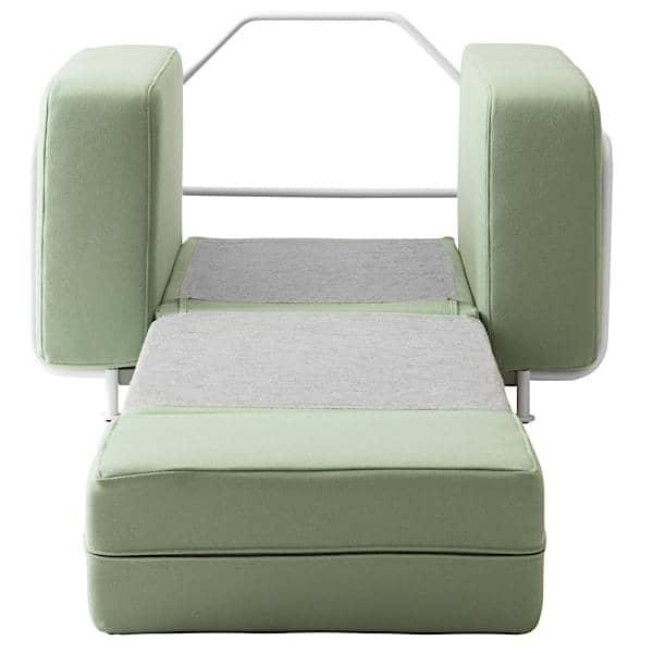 silver fauteuil convertible en lit 1 place softline. Black Bedroom Furniture Sets. Home Design Ideas