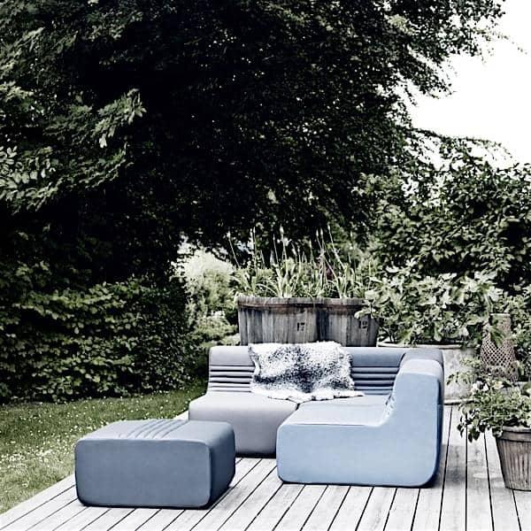 LOFT, en modulær sofa for din stue eller terrasse: Flytt kjernemodulene, vinkelen eller den osmanske, og opprett dusinvis av kombinasjoner.