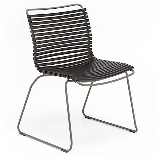 Jantar cadeira, CLICK SYSTEM, sem braços, resina e aço, ao ar livre, por HOUE