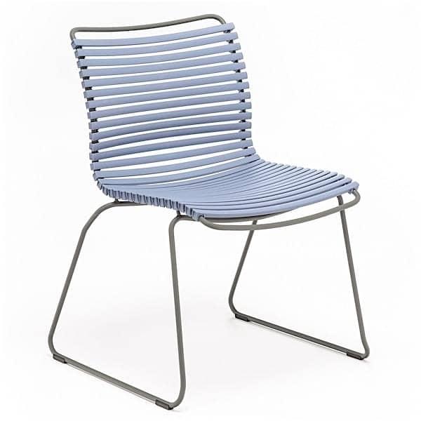 Chaise CLICK SYSTEM, sans accoudoirs, résine et acier, outdoor