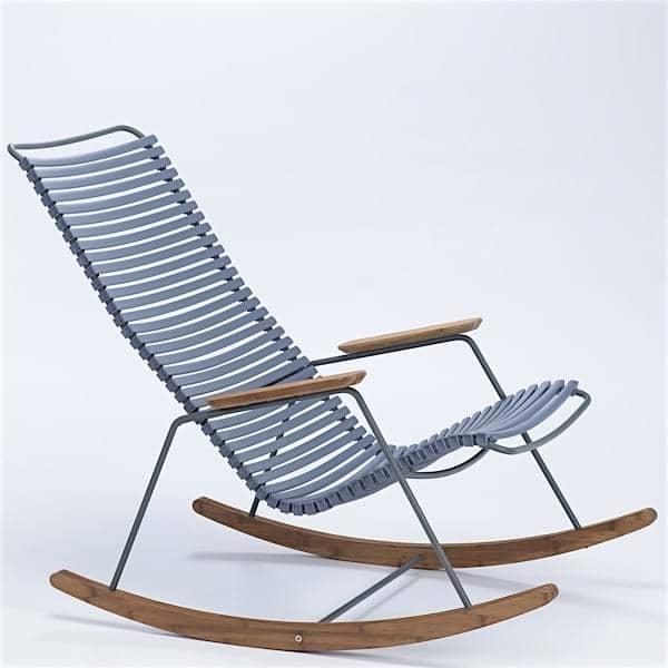 Rocking Chair CLICK SYSTEM, résine et acier, outdoor