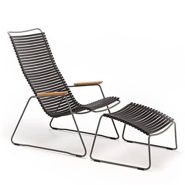 Lounge Chair CLICK SYSTEM, résine et acier, outdoor