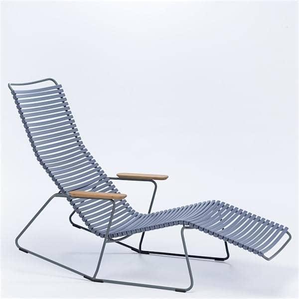 Rocking Chair bain de soleil CLICK SYSTEM, résine et acier, outdoor