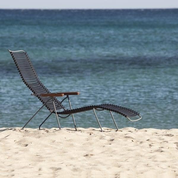 Sun sillón, CLICK SYSTEM, resina y acero, al aire libre, por HOUE