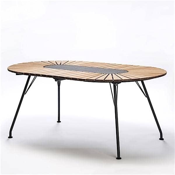 Mesa de comedor ovalada ECLIPSE, bambú, HOUE
