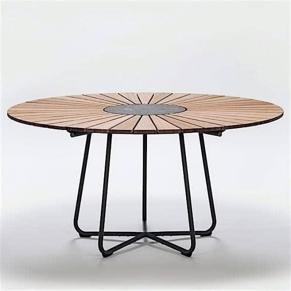 Mesa de comedor redonda CIRCLE, HOUE Dimensiones - Ø 110 cm, bambú y ...