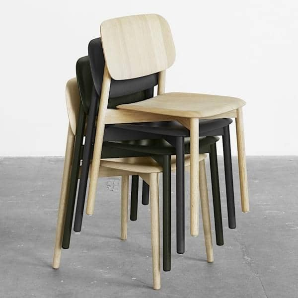 soft edge stackable chair in wood or metal timber hay. Black Bedroom Furniture Sets. Home Design Ideas
