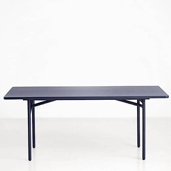 DIAGONALE, ένα τραπέζι από ξύλο και μέταλλο τραπεζαρία, ένα πολύ σύγχρονο και διαχρονικό σχεδιασμό. WOUD