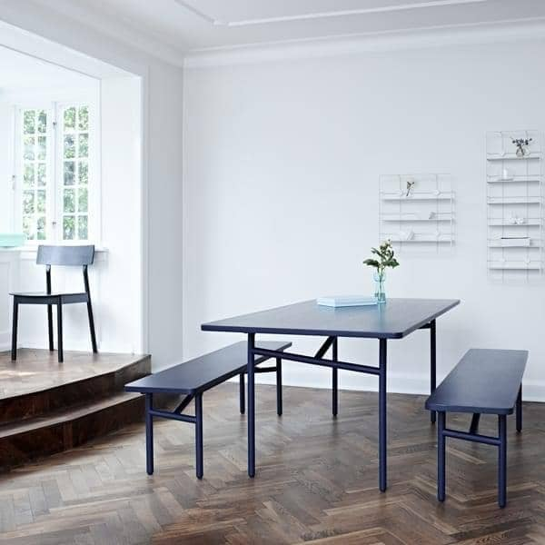 DIAGONALE, a wood and metal dining table, a very contemporary and timeless design