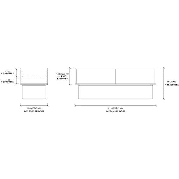 VIRKA 、サイドボード、 TVキャビネット、スライドドア