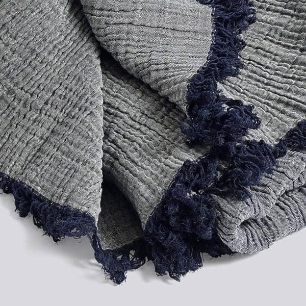 Le Plaid CRINKLE, 210 x 150 cm, en coton