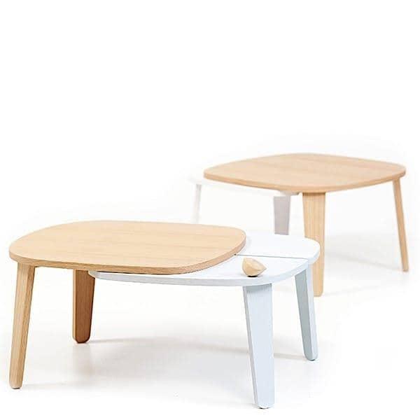 שולחן קפה הניתן להרחבה קולט על ידי הארטו, פורניר מעץ אלון