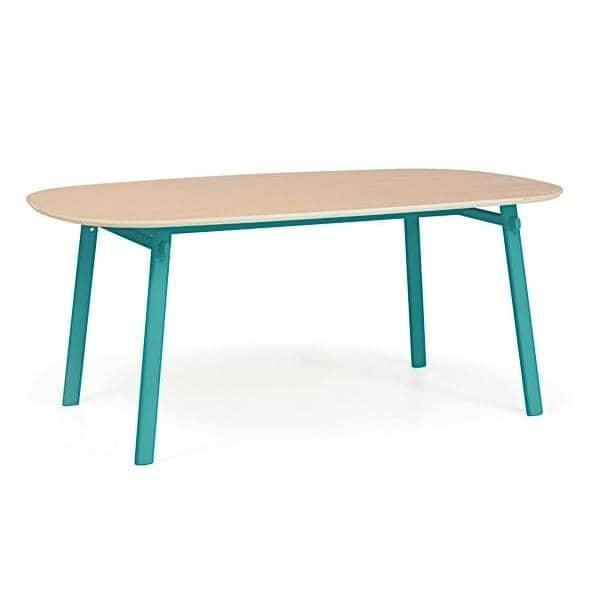 Céleste bord av Hartô, solid eik og stålkonstruksjon