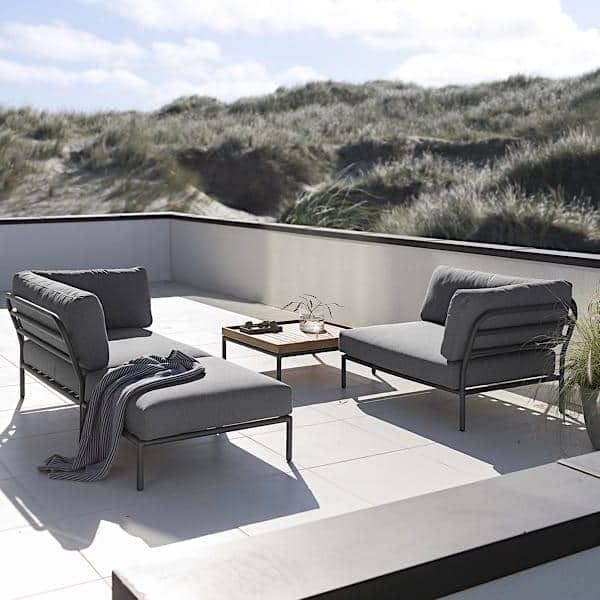 Lujoso Mesa De Café Con Muebles De Asiento Otomana Fotos - Muebles ...