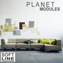 Sofá PLANET by SOFTLINE, un salón modular