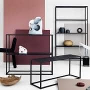 DOMO STORAGE high quality storage range, manufactured in lacquered metal, design and functional.