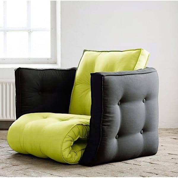 lofty futon sessel cabrio nordic design. Black Bedroom Furniture Sets. Home Design Ideas