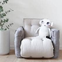 LITTLE LOFTY, Futon lænestol konvertible til en enkeltseng eller til to personer, børn version: blød, praktisk og behagelig