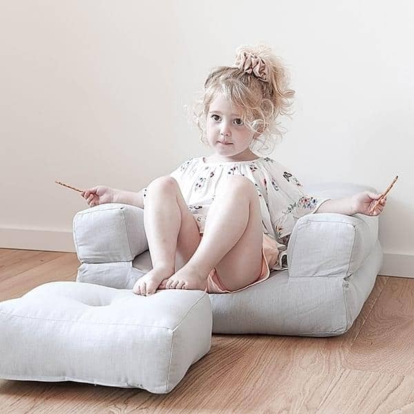LITTLE CUBIC, a futon armchair convertible into a pouf or comfortable and cozy bed, for children