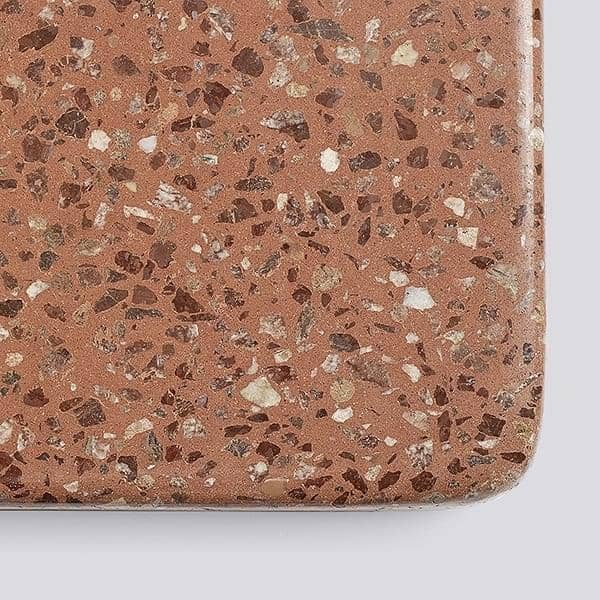 TERRAZZO : table carrée ou ronde, 3 hauteurs disponibles, de multiples finitions, par HAY