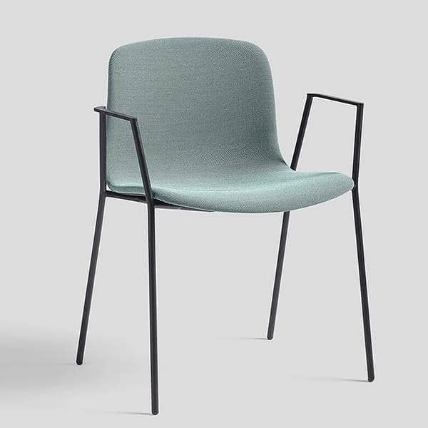 About A Chair Hay.The Chair About A Chair By Hay Aac 19 Upholstered Seat Stackable Curved Steel Armrests And Legs