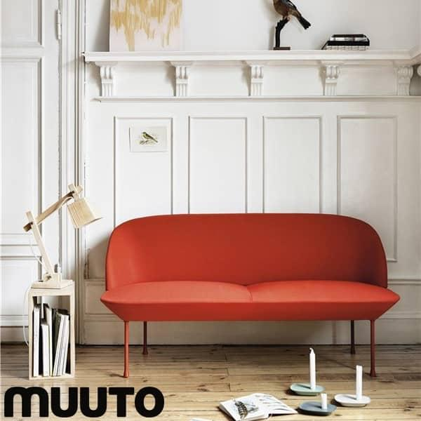 The OSLO 2-seater sofa, a sleek and classy silhouette. MUUTO