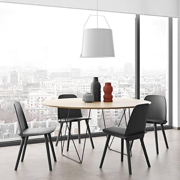 ROW runde spiseborde, elegant og moderne. TEMAHOME