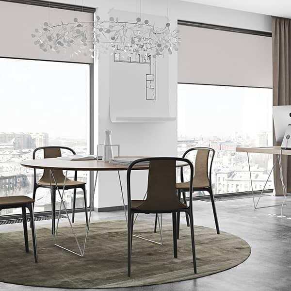 Tavoli Eleganti Moderni.Tavoli Da Pranzo Rotondi Row Eleganti E Moderni Temahome