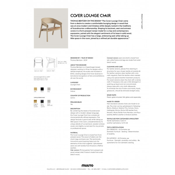 Cover Lounge Chair PFS