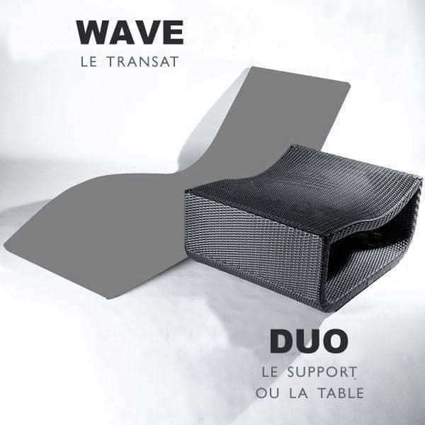 DUO est la Table pour le transat WAVE : arrondi et élégant, au jardin et sur la terrasse
