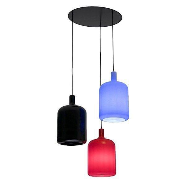BULB h u00e6ngende lampe, 3 lamper soft touch, ud af polyurethan deco og design, BOB DESIGN