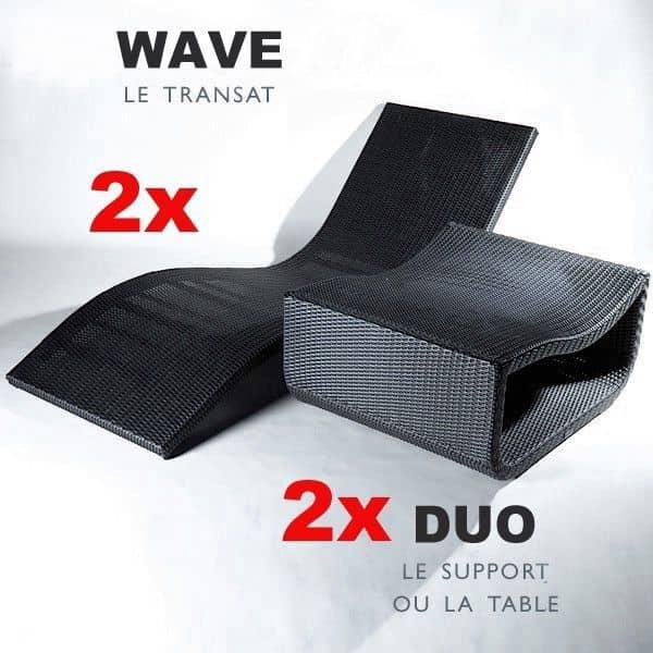 SET 2 WAVE בכסאות חוף + 2 DUO שולחן סלון - ההצעה הטובה ביותר - האלגנטי במחיר הטוב ביותר שלה! - דקו ועיצוב