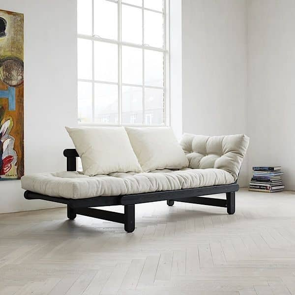 Beat Is A Two Seater Sofa Bed Which Can Be Transformed In Or Chaise Longue