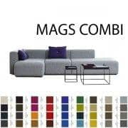 MAGS Sofa, modules combinations, fabrics and leathers