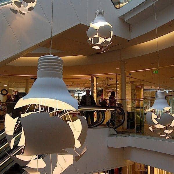 scheisse stort ventende lampe northern lighting. Black Bedroom Furniture Sets. Home Design Ideas