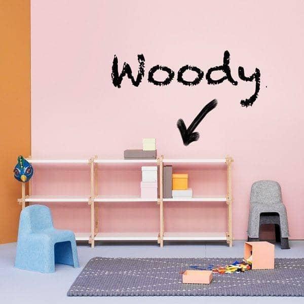 woody shelving system skabt i modernismens nd hay. Black Bedroom Furniture Sets. Home Design Ideas