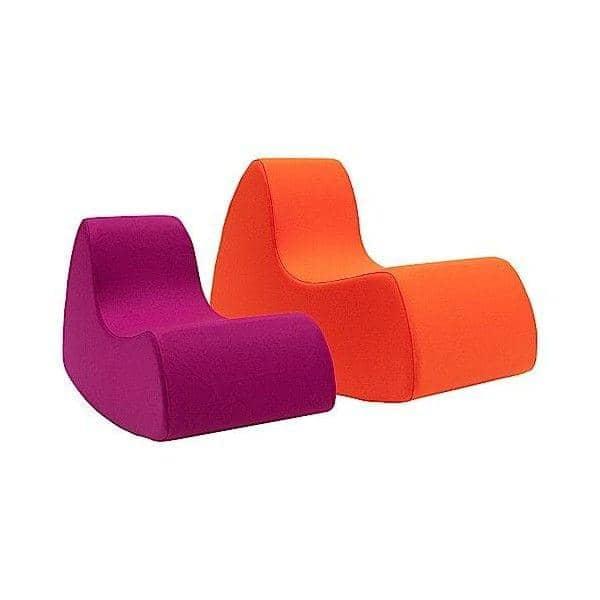 GRAND PRIX XL en stor og generøs lenestol, veldig komfortabel med sine avrundede former - deco og design, SOFTLINE