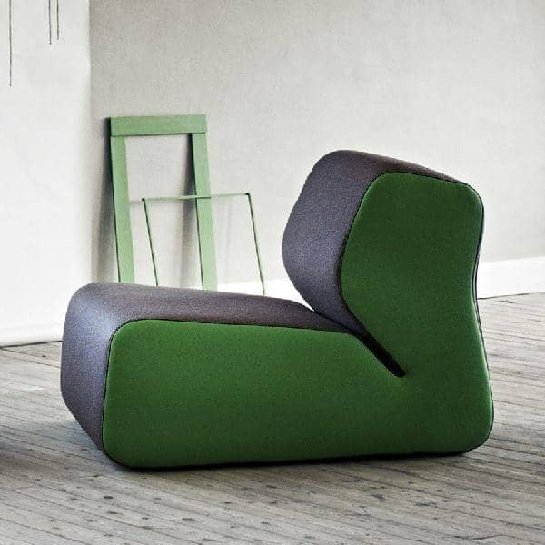 HUGO: a stately armchair, cozy and very stylish, SOFTLINE