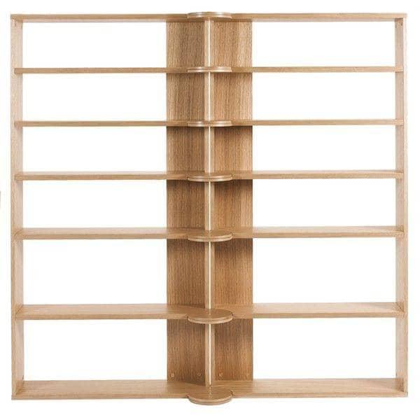 HINGE HIGH multifunction shelving system - solid oak