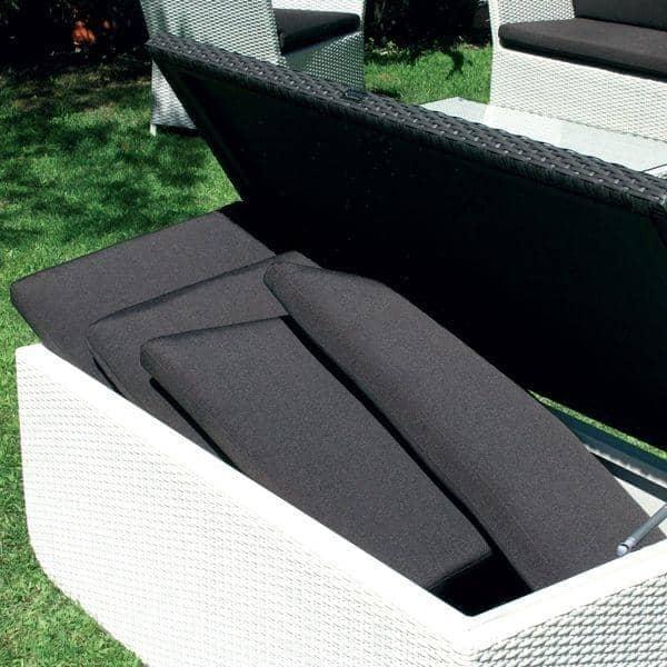coffre de rangement tanche armature aluminium h misph re. Black Bedroom Furniture Sets. Home Design Ideas