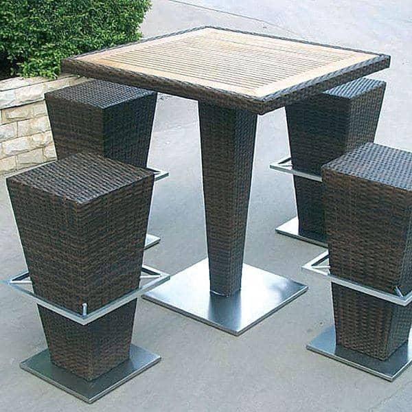Ensemble table haute et tabourets compact hi h misph re - Ensemble table haute et tabouret ...