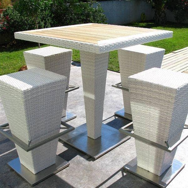 compact hi hoher tisch und barhocker h misph re ditions. Black Bedroom Furniture Sets. Home Design Ideas