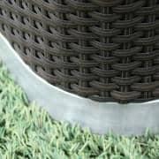INTIMITY花园家具。 UV耐药编织树脂和铝结构