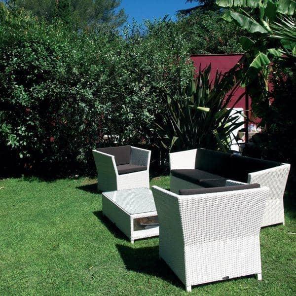 salon de jardin compact white h misph re. Black Bedroom Furniture Sets. Home Design Ideas