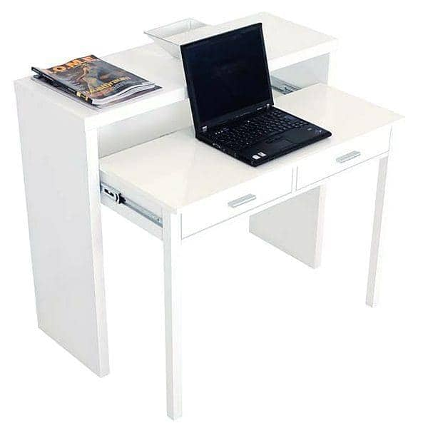 console desk pure white painted wood or oak leonhard pfeifer. Black Bedroom Furniture Sets. Home Design Ideas