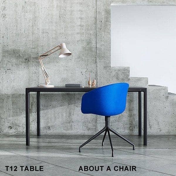 "ABOUT CHAIR -. נ""צ AAC21 - מושב מרופד, רגלי אלומיניום, אפשרויות רבות זמינות - HEE WELLING HAY"