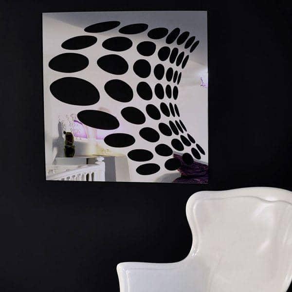 Miroir d coratif psych par christian ghion 98 x 98 cm for Miroir decoratif