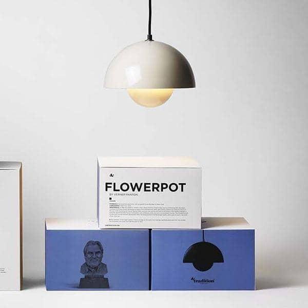 FLOWERPOT coleção de iluminação projetada por Verner Panton: atemporal, deco and nórdico projetado, AND TRADITION