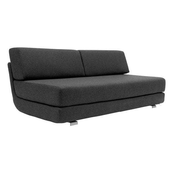 LOUNGE, sofa 3 places convertible, méridienne et pouf, tissus FELT